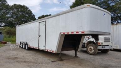 cargo door used pace american 37ft cargo sport gooseneck mobile work trailer