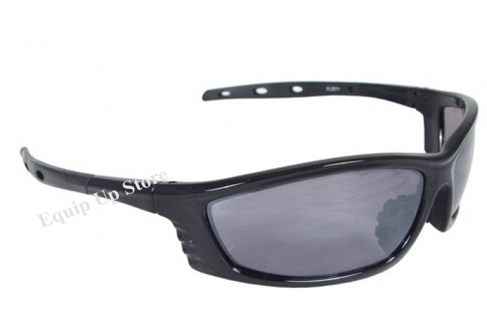 Radians Chaos Silver Mirror Lens Black Frame Safety Eyewear