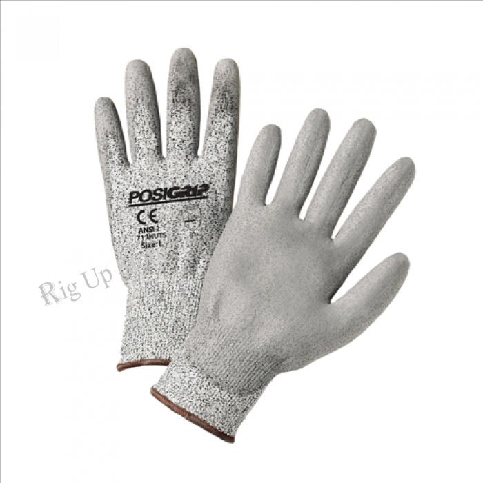 WESTCHESTER  Gray PU Palm Coated Speckle Gray HPPE Gloves